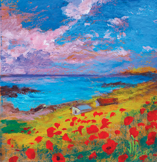 Red poppies and Black Sea – Romania